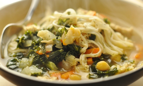 Chicken and Kale Noodle Soup