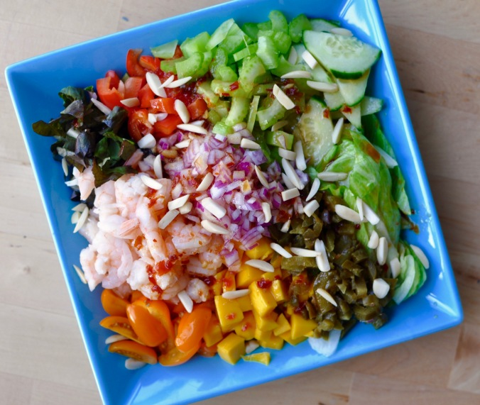 Chopped Salad with Mango and Shrimp