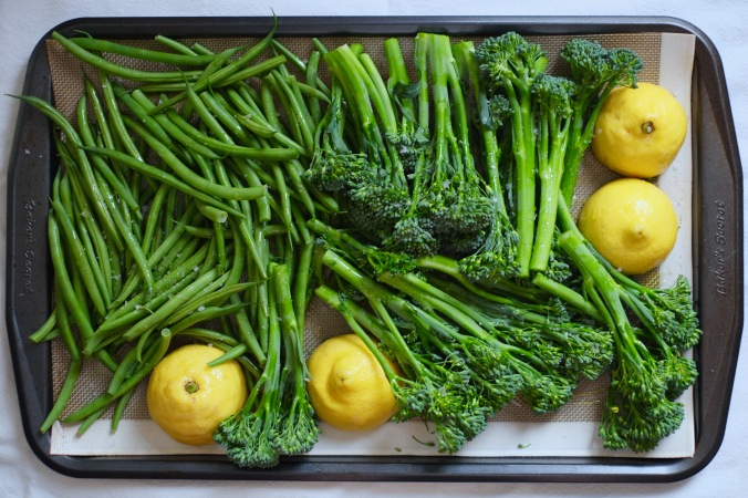Roasted Green Beans and Broccolini On a Bed of Ricotta 2
